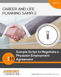 sample script to negotiate a physician employment agreement 3rnet. Black Bedroom Furniture Sets. Home Design Ideas